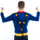 Pom Pom Christmas Tree with Suspenders Sweater Rear