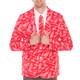 Detroit Red Wings NHL Sport Jacket and Tie Close-Up