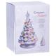 White Ceramic Christmas Tree w/ Lights Boxed View