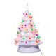 White Ceramic Christmas Tree w/ Lights