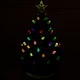 Battery-Operated Ceramic Christmas Tree Lit in Darkness View