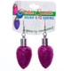 Christmas Bulb Earrings Pink