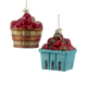 Fruit in a Basket Glass Ornament Collection