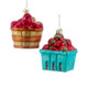 Fruit in a basket Glass Ornaments