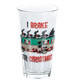Cousin Eddie RV Pint Glass I Brake for Christmas Front View