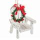 Muskoka Chair Ornament - white