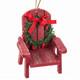Muskoka Chair Ornament - red