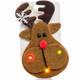 Flashing Holiday Brooch - reindeer
