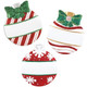 Patterned Christmas Ball Personalized Ornaments 3 Assorted