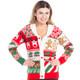 Sweet Treats Ugly Christmas Sweater Cardigan - women