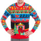 Twas The Night Before Christmas Ugly Sweater - close up