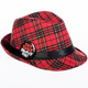 Get Your Merry On Christmas Plaid Fedora
