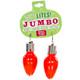 Lotsa Lites Jumbo Flashing Bulb Earrings - Red Colour