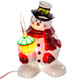 "8"" Snowman with Bubble Glitter Light"