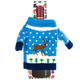 Blue with Reindeer Wine Bottle Ugly Sweaters