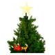 Santa Sled Animated Tree Topper tree