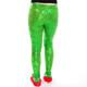 Festive Sequin Leggings - green back