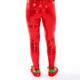 Festive Sequin Leggings - red back