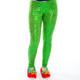 Festive Sequin Leggings - green front