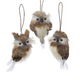 Feathery Owl Ornaments