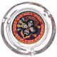 """KISS Rock and Roll Over 4"""" Round Glass Ashtray"""