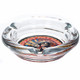 """KISS Rock and Roll Over 4"""" Round Glass Ashtray Side-View"""
