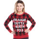 Straight Outta North Pole Ugly Sweater - women front