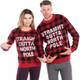 Straight Outta North Pole Ugly Sweater - couple