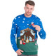 Santa Nativity Scene Ugly Christmas Sweater