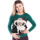 Tipsey Elves Women's Santataur Sweater