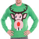 Men's Bucktooth Rudolph Ugly Sweater - close up