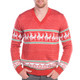 Men's Reindeer Conga Ugly Sweater - close up