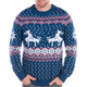 Climax Reindeer Ugly Christmas Sweater Close