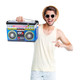 Throwback Mixed Tape Beverage Cooler with guy