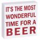 Naughty Beer Wine Tabletop Glitter Wood Signs - beer