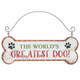 Festive Dog Bone Ornaments The World's Greatest Dog