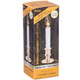 Battery-Operated Candle Lamp With Brass Colour Base Packaged View
