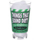 Things that Sound Dirty on Christmas 16 oz Pint Glass Front View