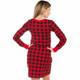 Buffalo Plaid Women's Nightdress - back