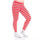 Women's Red and White Stripe Leggings by Tipsy Elves
