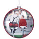 Norman Rockwell Santa at the Diner Ornament - Boy