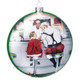 Norman Rockwell Santa at the Diner Ornament - Girl