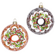 Frosted Glass Donut Ornaments