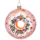 Frosted Vanilla Donut Ornament