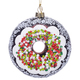 Frosted Chocolate Donut Ornament