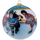 Painted Glass Ball Hockey Ornament