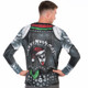 KISS The Demon Ugly Christmas Long-Sleeve Tee Faux Real - Back