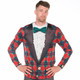 Tacky Tuxedo Ugly Christmas Long-Sleeve Tee Faux Real - Front