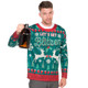 Let's Get Blitzen Ugly Christmas Sweater Faux Real - Front (bottle not included)