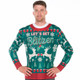 Let's Get Blitzen Ugly Christmas Sweater Faux Real - Front